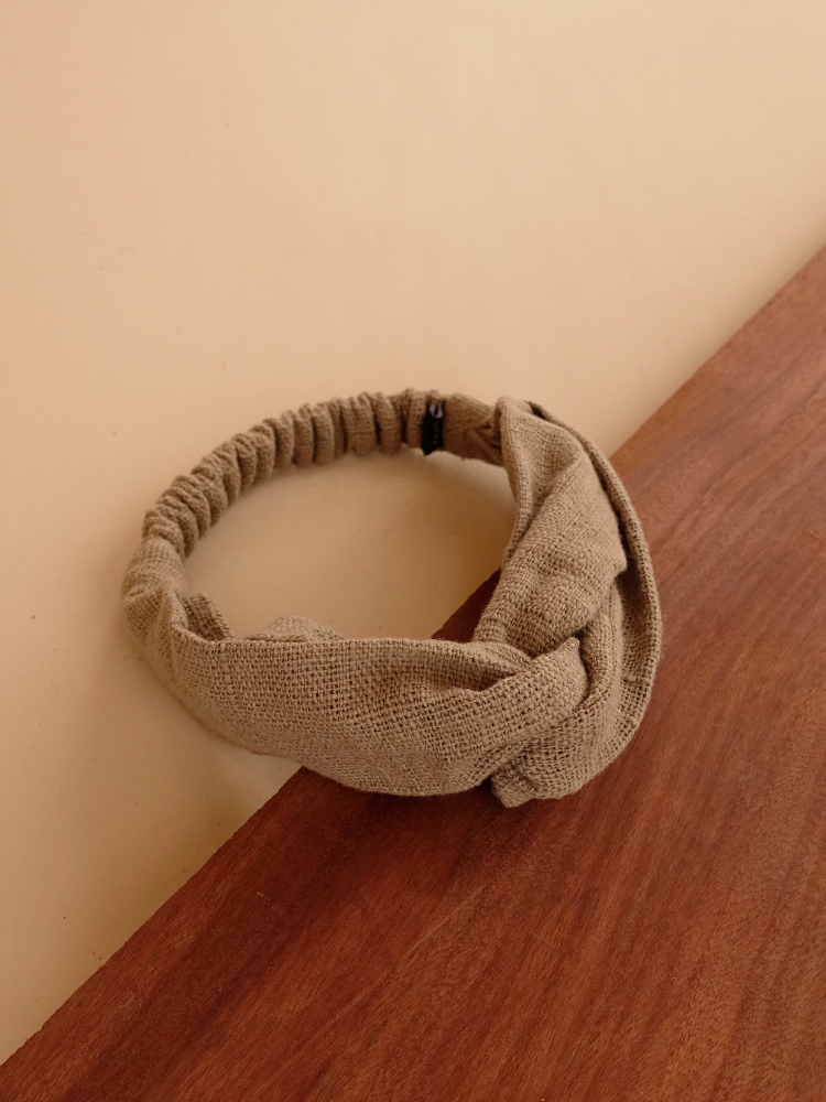 Hand-woven Hairband_Guava Grey