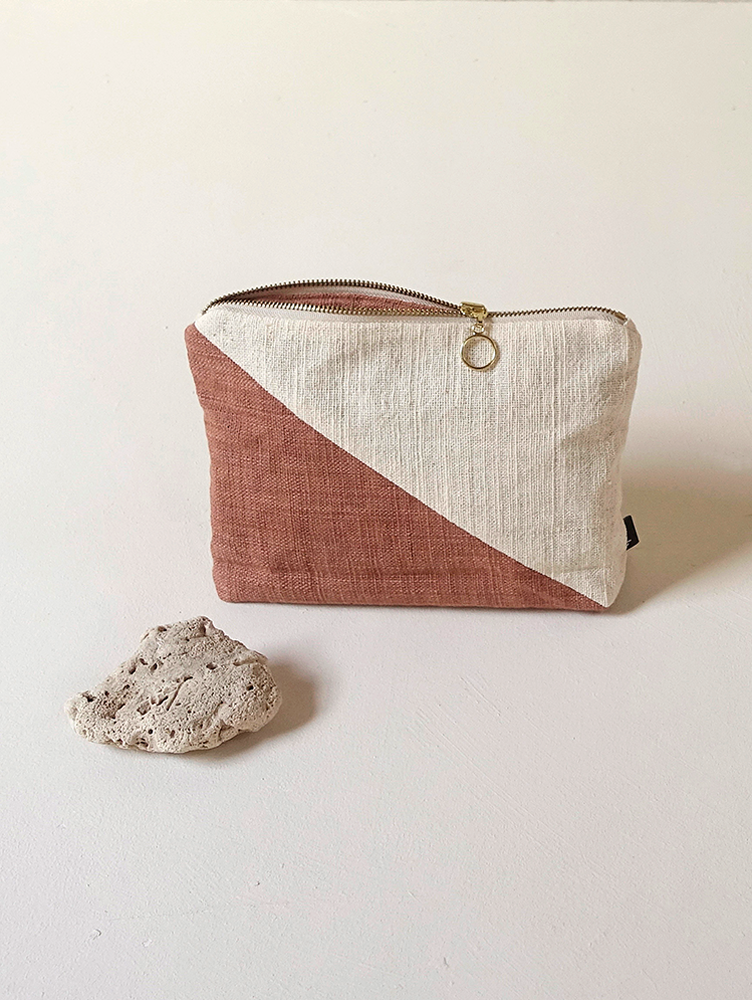 Hand-woven Pouch(Color Block)