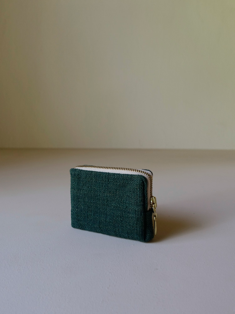 Hand-woven Coin Purse_Deep Green