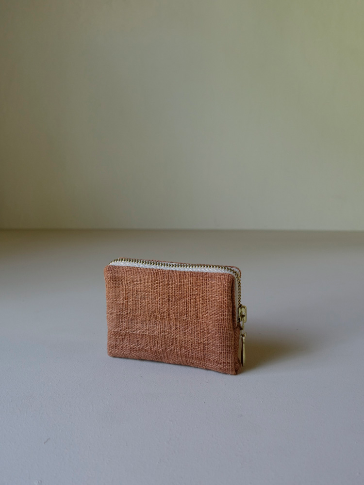 Hand-woven Coin Purse_Red Taro