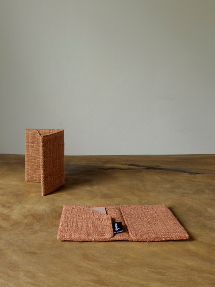 Hand-woven Business-card Holder_Red Taro