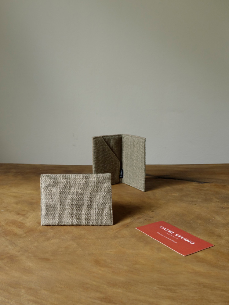 Hand-woven Business-card Holder_Guava Grey