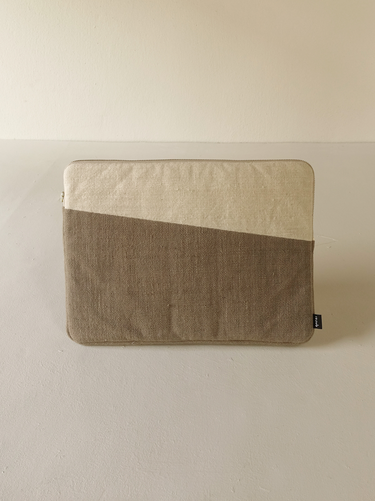 Hand-woven Laptop Case_Guava Grey