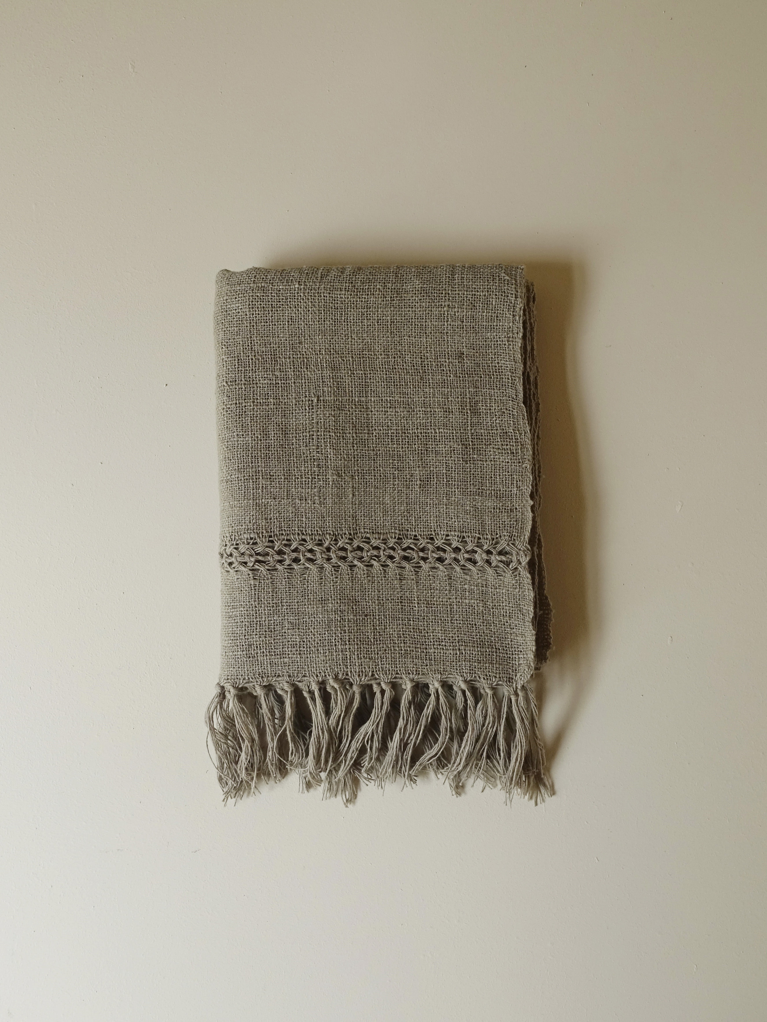 Hand-woven Scarf_Guava Grey