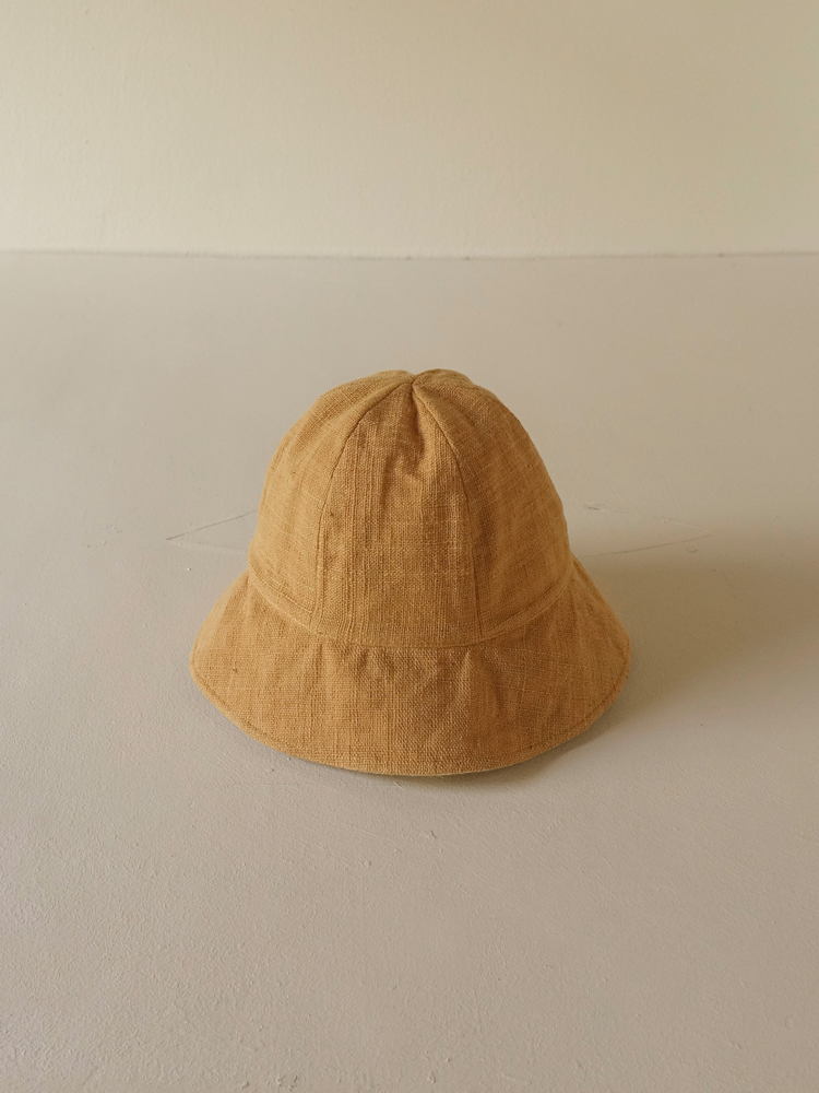 Hand-woven Buckethat (round)_Jackfruit Yellow