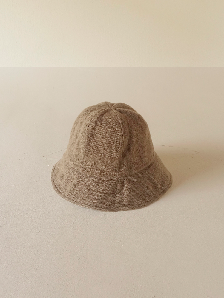 Hand-woven Buckethat (round)_Guava Grey