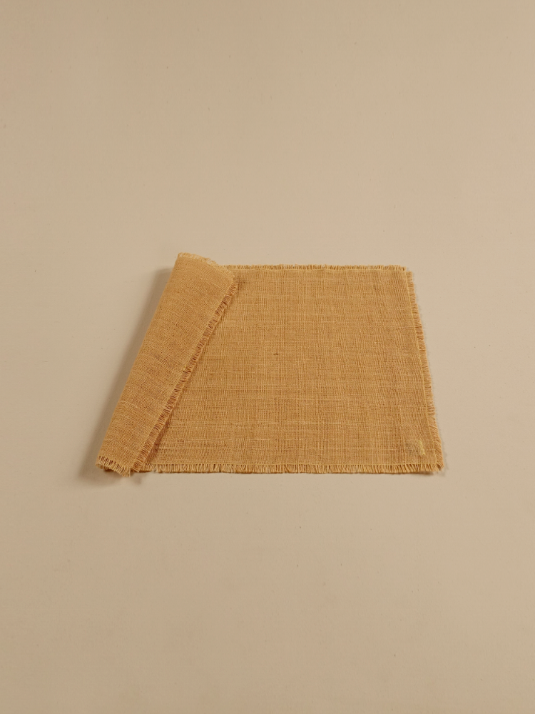 Hand-woven Placemat (Fringe)_Jackfruit Yellow