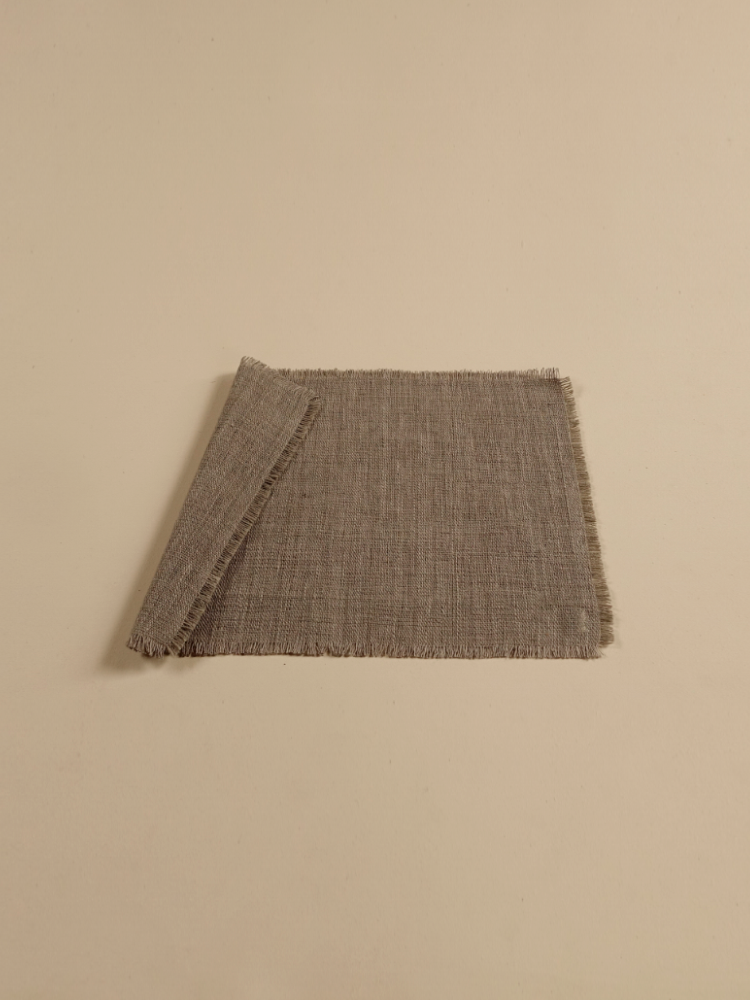 Hand-woven Placemat (Fringe)_Guava Grey