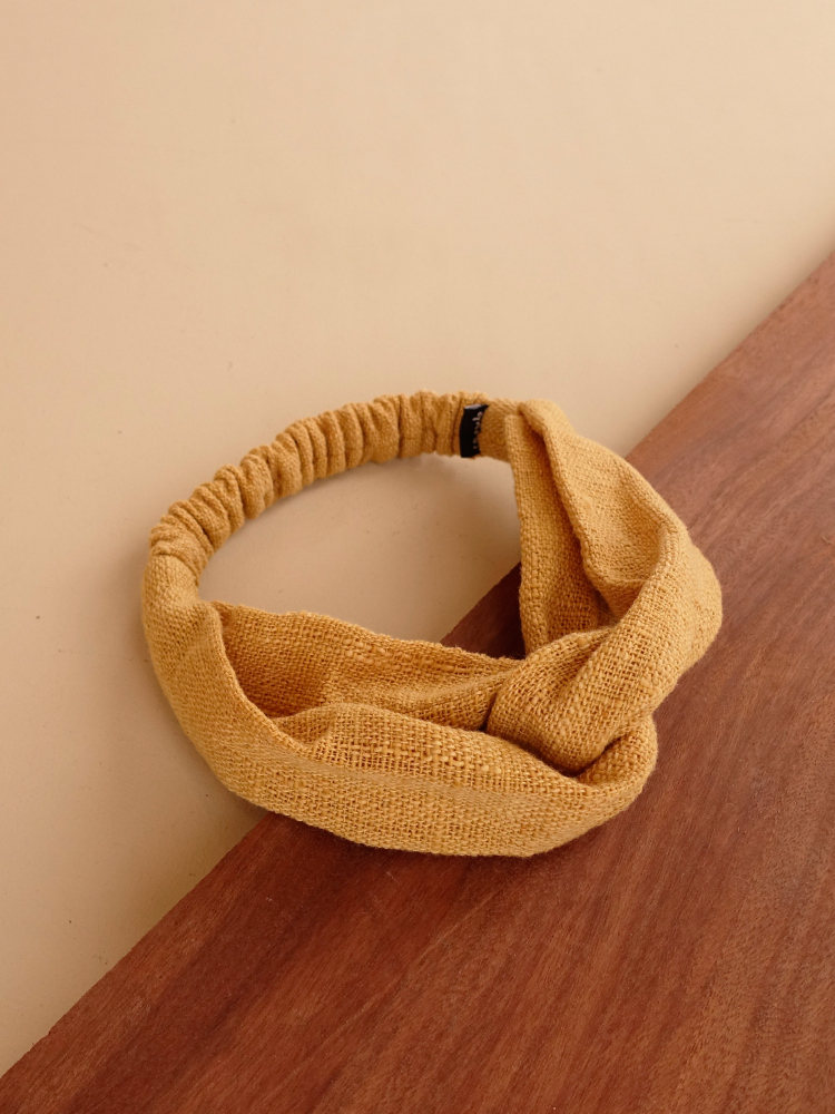 Hand-woven Hairband_Jackfruit Yellow