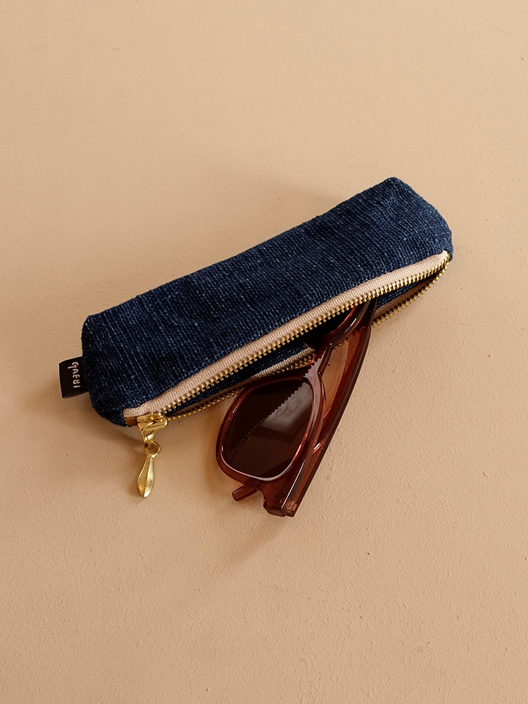 Hand-woven Pencil Case_Indigo Navy