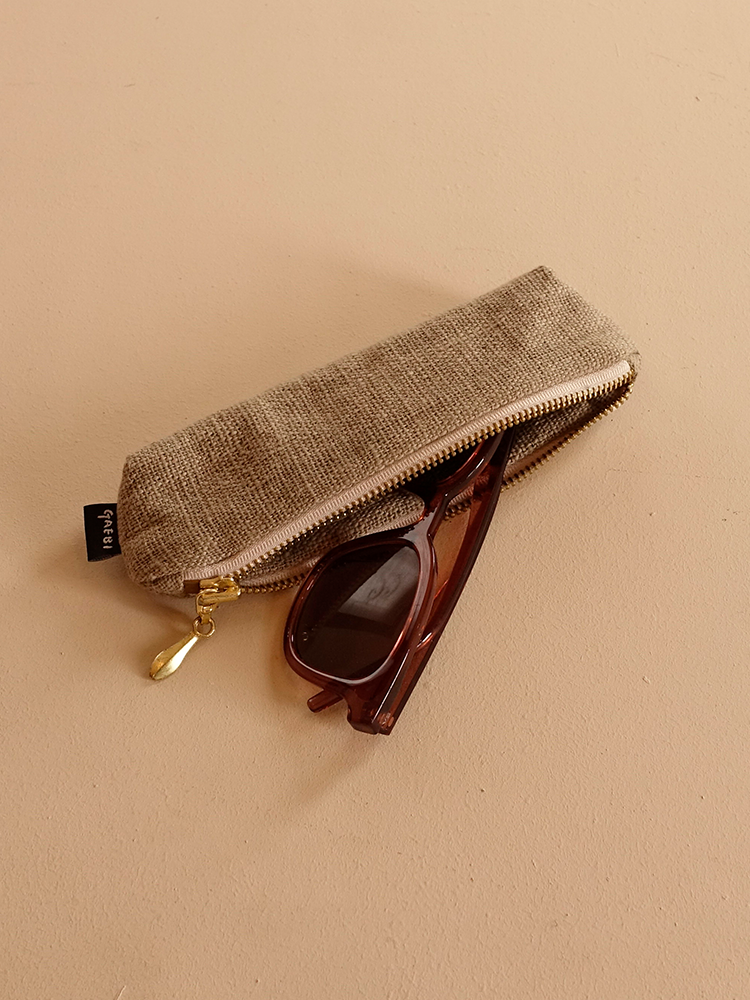 Hand-woven Pencil Case_Guava Grey