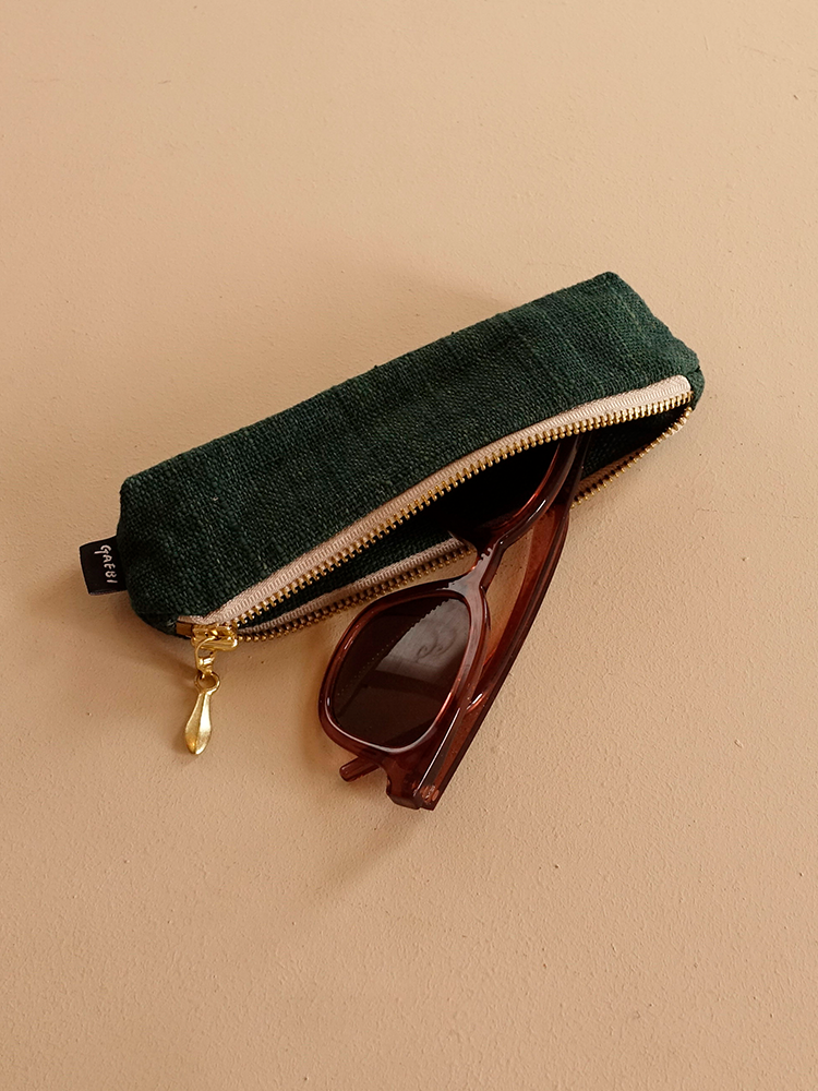 Hand-woven Pencil Case_Deep Green